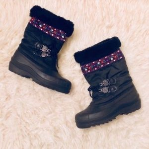Sorel Embroidered Synthetic Winter Snow Boots